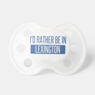 Chupeta Eu preferencialmente estaria em Lexington