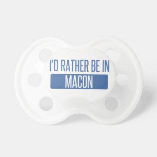 Chupeta Eu preferencialmente estaria em Macon