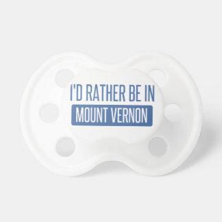 Chupeta Eu preferencialmente estaria em Mount Vernon