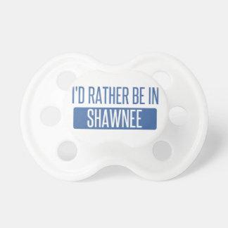 Chupeta Eu preferencialmente estaria no Shawnee