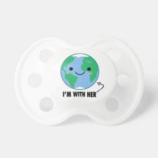 Chupeta Eu sou com ela - Dia da Terra do planeta