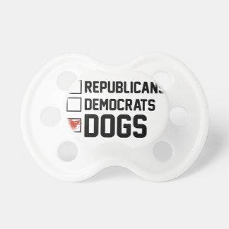 Chupeta Eu voto cães