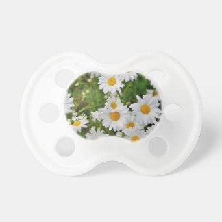 Chupeta Flor da margarida branca