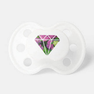 Chupeta flor moderna elegante do lilac do diamante