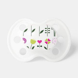 Chupeta Flores populares luxuosas no branco