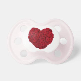 Chupeta Forma cor-de-rosa do coração