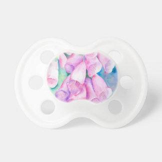 Chupeta Foxgloves cor-de-rosa da aguarela
