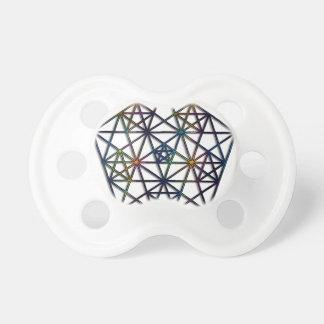 Chupeta Fractal sagrado da geometria da abundância da vida