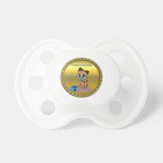 Chupeta Gatinho bonito macio brincalhão do ouro com olhos