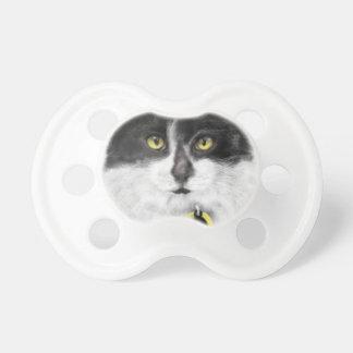 Chupeta Gato preto e branco