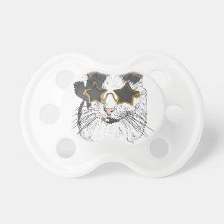 Chupeta Gato que veste vidros da estrela