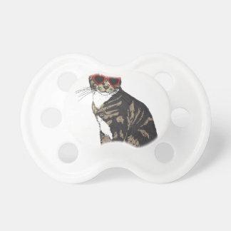Chupeta Gato que veste vidros do coração