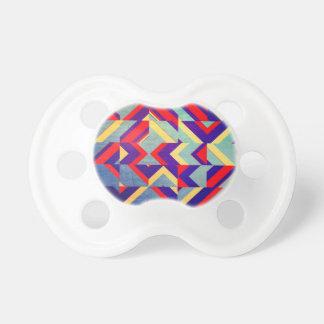 Chupeta Geométrico colorido