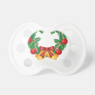 Chupeta Grinalda do Natal com ornamento Bels e doces