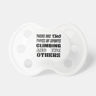 Chupeta Há dois tipos de escalada e de outro dos esportes