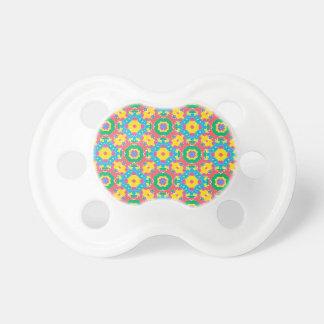 Chupeta Impressão colorido geométrico
