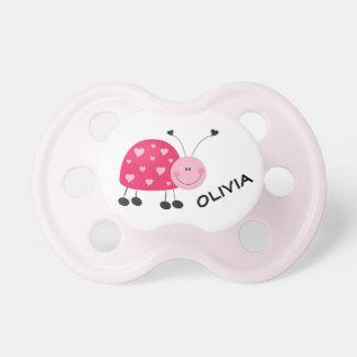 Chupeta Joaninha cor-de-rosa 0-6 meses de Pacifier de