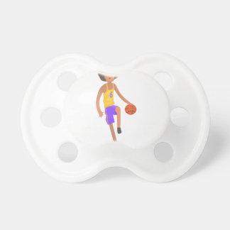 Chupeta Jogador de basquetebol que funciona com etiqueta