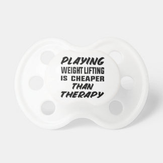 Chupeta Jogar o levantamento de peso é mais barato do que