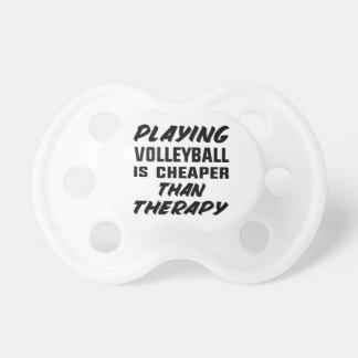 Chupeta Jogar o voleibol é mais barato do que a terapia