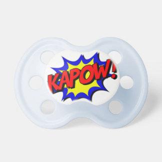 Chupeta Kapow! Super-herói 0-6 meses de Pacifier de