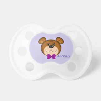 Chupeta Laço bonito do urso de ursinho do miúdo