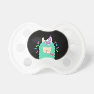 Chupeta Lama Emoji do animal de partido