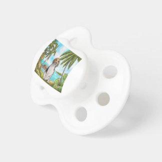 Chupeta Lebreiro na praia tropical das férias