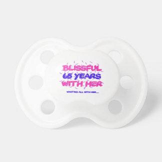 Chupeta Legal e tendendo o 65th design do aniversário do