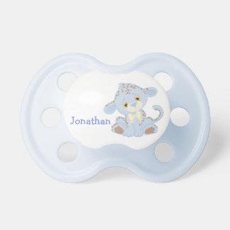 Chupeta Leopardo do bebê azul personalizado