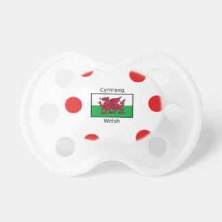 Chupeta Língua de Galês e design da bandeira de Wales