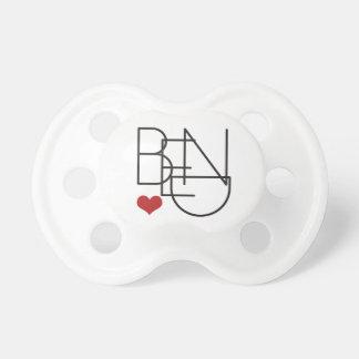 Chupeta Logotipo do coração da palavra de Oregon da