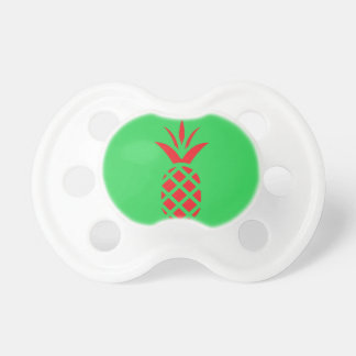 Chupeta Maçã do pinho vermelho no verde