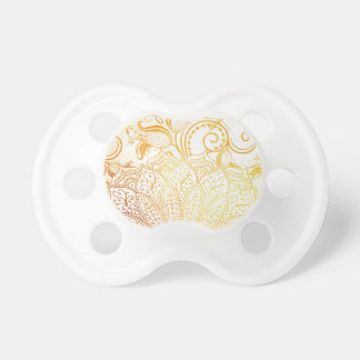 Chupeta Mandala - escova dourada