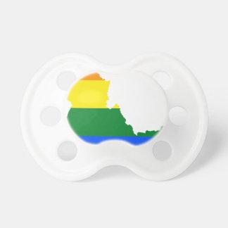 Chupeta Mapa da bandeira de Idaho LGBT
