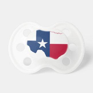 Chupeta Mapa da bandeira de Texas