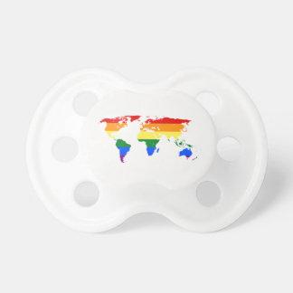 Chupeta Mapa do mundo BooginHead do arco-íris (0-6 meses)
