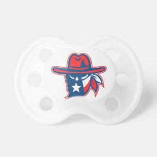 Chupeta Mascote foragido da bandeira de Texas do Texan