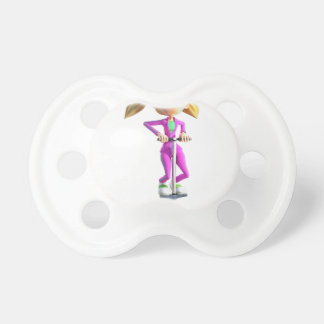 Chupeta Menina dos desenhos animados que monta uma vara de