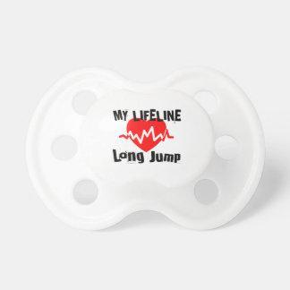 Chupeta Minha linha de vida salto longo ostenta o design