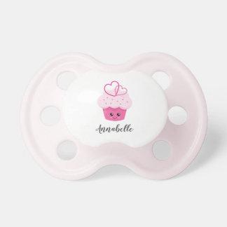 Chupeta Monograma cor-de-rosa bonito do chá de fraldas de
