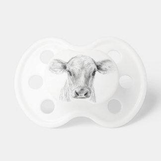 Chupeta MOO uma vaca nova do jérsei