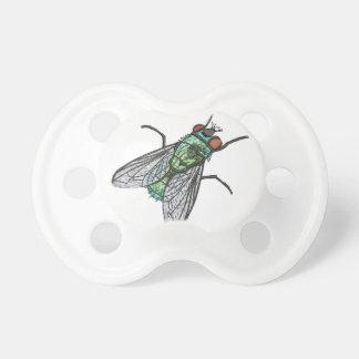 Chupeta mosca verde - imitação do bordado