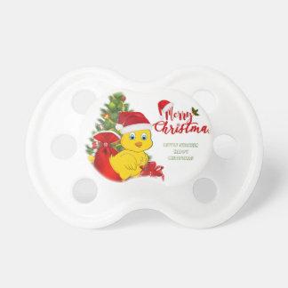 Chupeta Natal pequeno da galinha do bebê