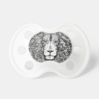 Chupeta Ninho do leão preto e branco