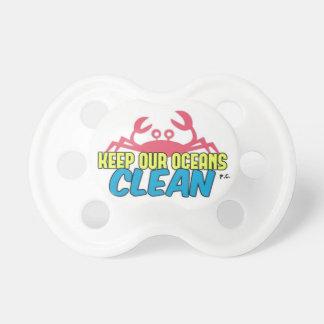 Chupeta O ambiente mantem nosso slogan limpo dos oceanos