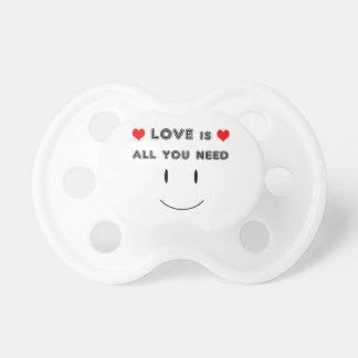 Chupeta O amor é tudo que você precisa