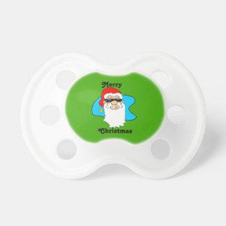 Chupeta O Feliz Natal refrigera o papai noel nos óculos de