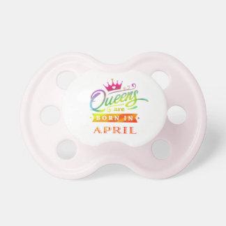 Chupeta O Queens é em abril presente de aniversário