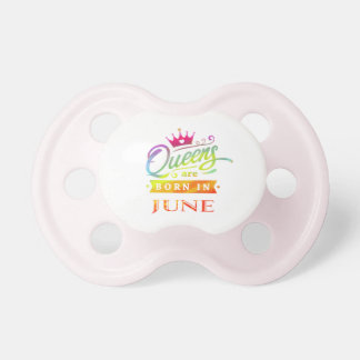 Chupeta O Queens é em junho presente de aniversário